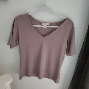Express Tricot V-neck Top